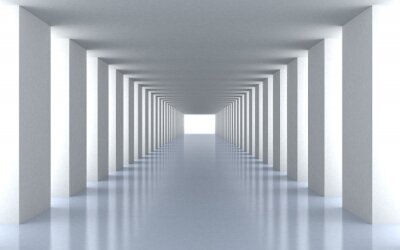 Papiers peints lumière blanche du tunnel