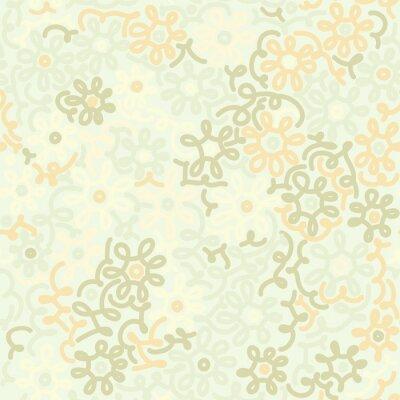 Papiers peints Lumière, floral, camomille, retro, vendange, seamless, modèle. Modèle