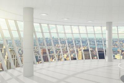 Papiers peints Lumineux grand bureau avec des fenêtres dans le plancher