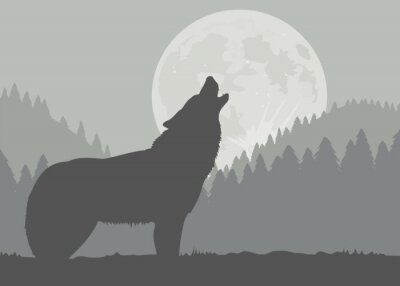 Papiers peints Lune de loup