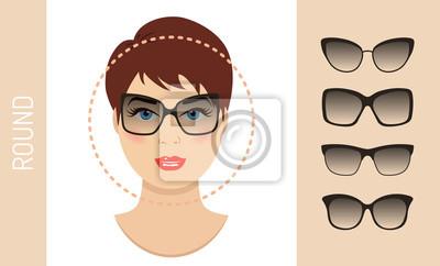 4601085a88a28a Papiers peints Lunettes de soleil femme formes pour ronde type de visage  des femmes. Différentes