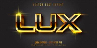 Papiers peints Lux text, shiny gold style editable text effect