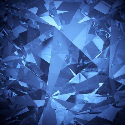 Papiers peints Luxe bleu cristal facette fond