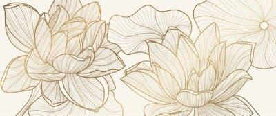 Papiers peints Luxury wallpaper design template.  Design for packaging design, social media post, cover, banner, creative post, Gold geometric pattern design vector