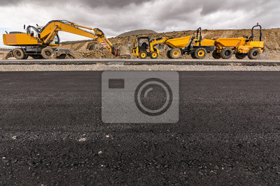 Papiers peints Machinery of various types for road construction