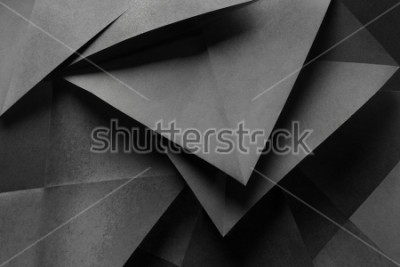 Papiers peints Macro image of paper folded in geometric shapes, three-dimensional effect, abstract background