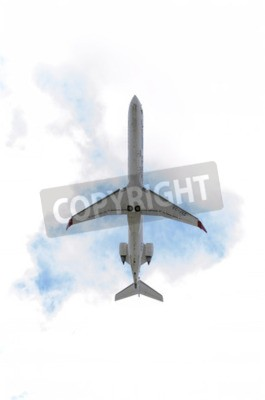 Papiers peints MADRID, ESPAGNE - 14 juin 2015: Aircraft -Bombardier Canadair CRJ-900-, de -Air Nostrum- aérienne, est en train de décoller de l'aéroport de Madrid-Barajas -Adolfo Suarez-, le 14 Juin à 2015.