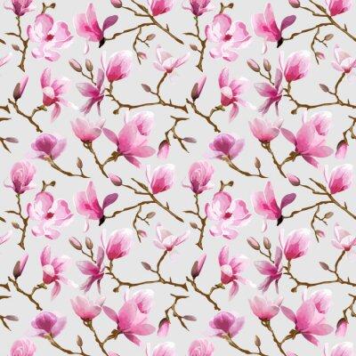 Papiers peints Magnolia Fleurs fond - Seamless Vintage