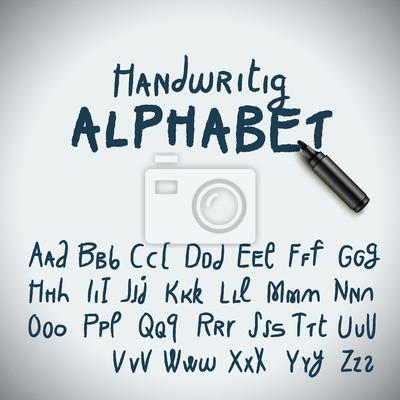 Main Alphabet Dessin Papier Peint Papiers Peints Municipal Marqueur Panneau Myloview Fr