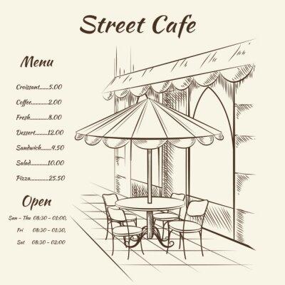 Papiers peints Main street dessinée café fond