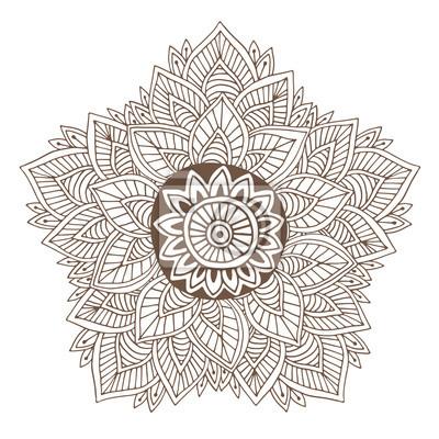 Papiers Peints Mandala De Vecteur Ou Conception De Tatouage De Henne Rond Ornemental