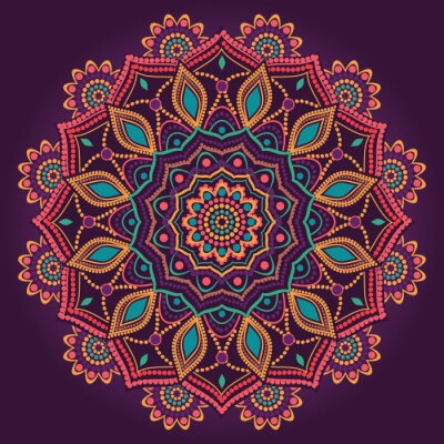 Papiers peints Mandala ornementale
