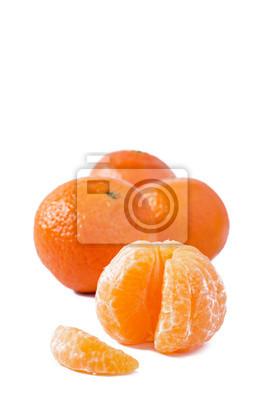mandarines sur fond blanc