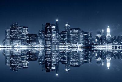 Papiers peints Manhattan, nuit, réflexions, Harlem, rivière