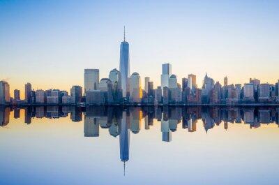 Papiers peints Manhattan Skyline avec la construction du World Trade Center à tw