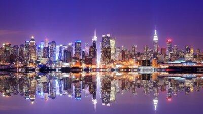 Papiers peints Manhattan Skyline avec réflexions