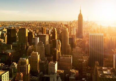 Papiers peints Manhattan Skyline bei Sonnenuntergang à New York