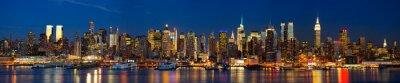 Papiers peints Manhattan skyline panorama de nuit, New York
