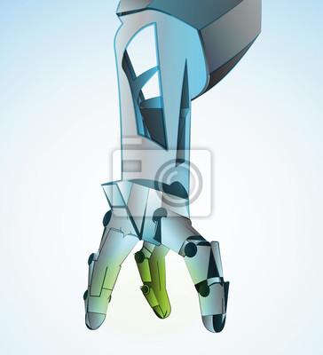 Manipulation robotique de main à l'avenir illustration vectorielle