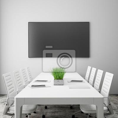 Maquette écran de télévision dans la salle de réunion, fond ...