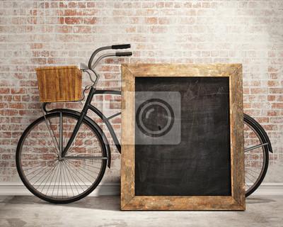 maquette tableau noir en arri re plan int rieur loft avec v los papier peint papiers peints. Black Bedroom Furniture Sets. Home Design Ideas