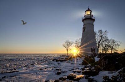 Papiers peints Marblehead Lighthouse Sunrise