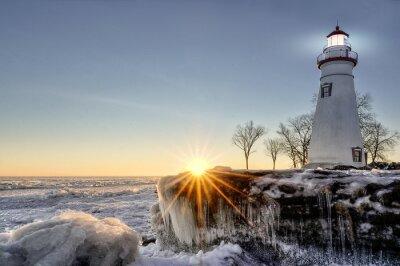 Papiers peints Marblehead Lighthouse Winter Sunrise