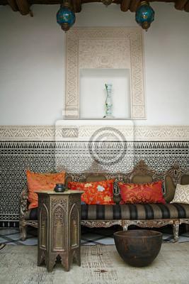 Maroc: salon oriental (mélange contemporain et ancien) # 3 papier ...