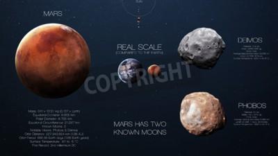 Papiers peints Mars - Infographie de haute résolution sur la planète du système solaire et ses lunes. Toutes les planètes disponibles.