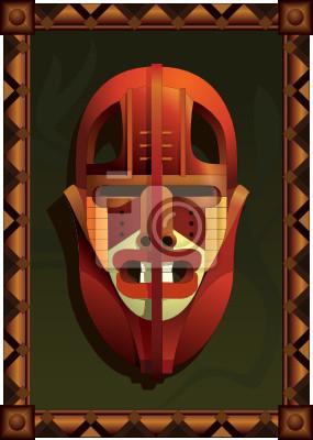 masque de combat africain