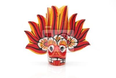 Masque de Feu - Masque en bois du Sri Lanka