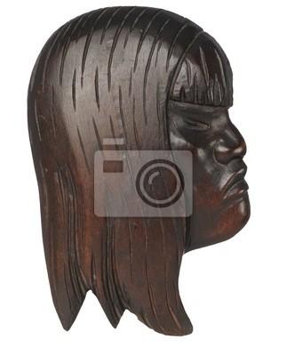 Masque en bois africain - femelle