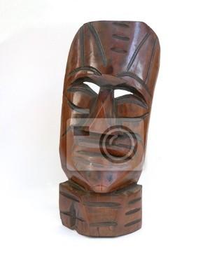 masque en bois antique