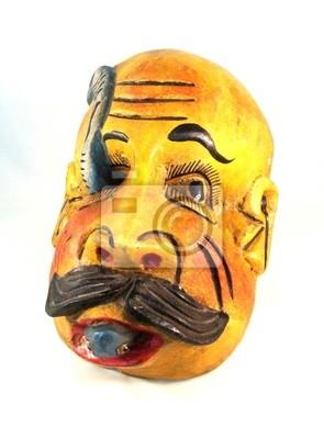 Masque en bois antique de Guerrero au Mexique