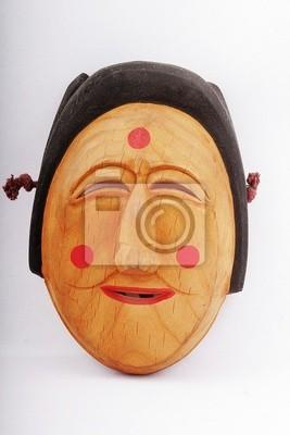 masque en bois de femme