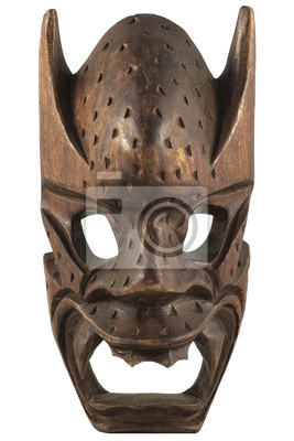 Masque en bois sculpté