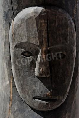Masque tribal africain en bois