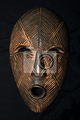 Masque tribal africain - Lega Tribe