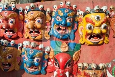 Masques en bois, Népal