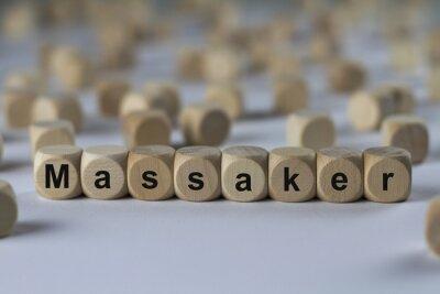 Massacre Cubes En Bois Avec Des Lettres Papier Peint Papiers