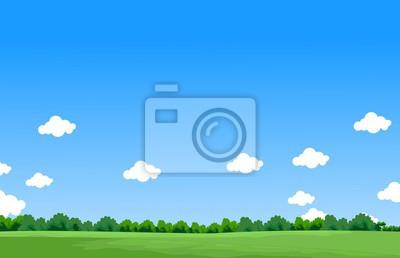Papiers peints Matin, vue, nuage, colline, paysage, fond
