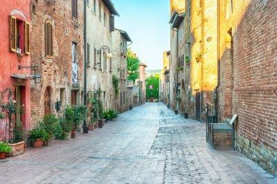 Papiers peints Médiéval, rue, vue, Certaldo, Italie