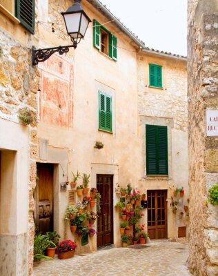 Papiers peints Medieval Valldemosa village traditionnel de Majorque