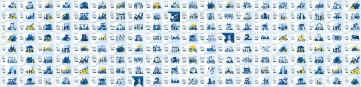 Papiers peints Mega Collection of business concept flat vector illustration. Set of landing page design templates, can use for web banner, infographics, landing page, web template