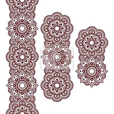 Papiers peints Mehndi, Indien, henné, brun, tatouage, long, modèle,
