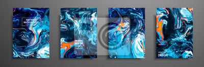 Papiers peints Mélange de peintures acryliques. Texture de marbre liquide. Art fluide. Applicable pour la couverture du design, la présentation, l'invitation, le flyer, le rapport annuel, l'affiche et la carte de vi