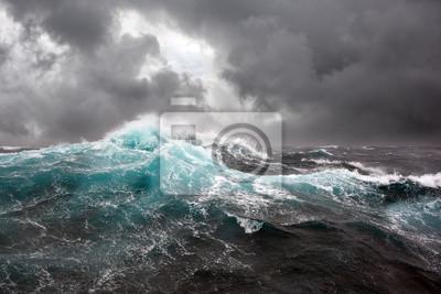 Papiers peints Mer, vague, sombre, nuages, fond