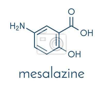 fd9b2a42ce22 Papiers peints Mésalazine (mésalamine, acide 5-aminosalicylique, 5-ASA)  molécule