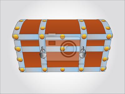 métal renforcé illustration vectorielle de la poitrine