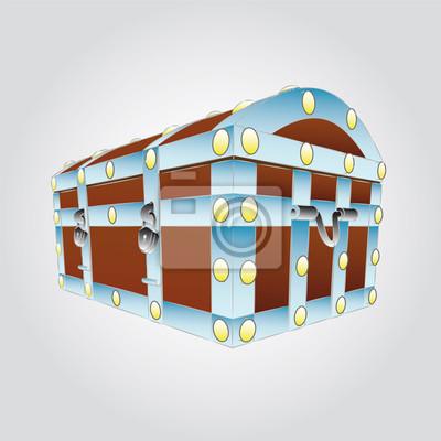 métal renforcé poitrine illustration vectorielle